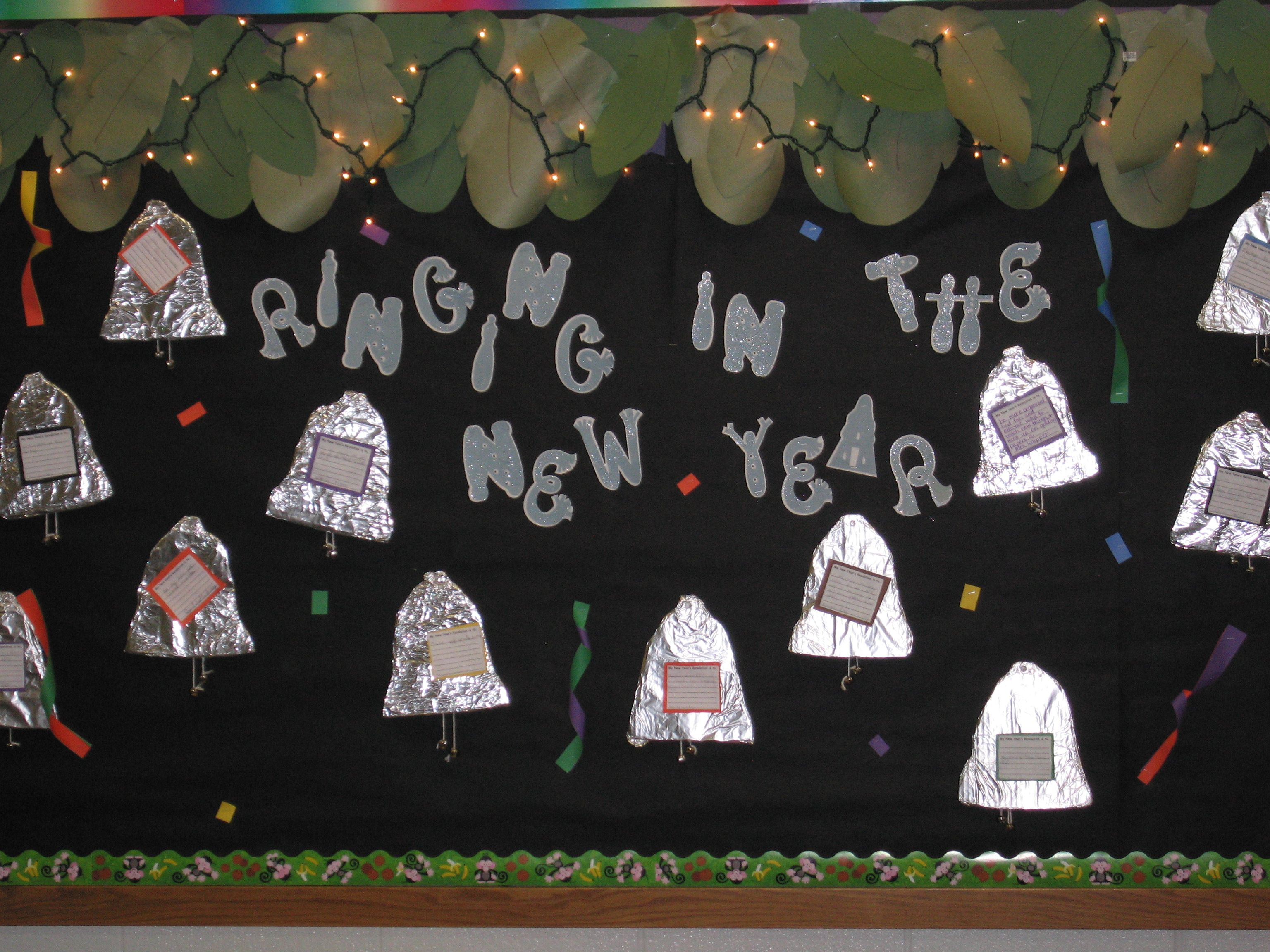 New Years Bulletin Board | Kindergarten bulletin boards ...