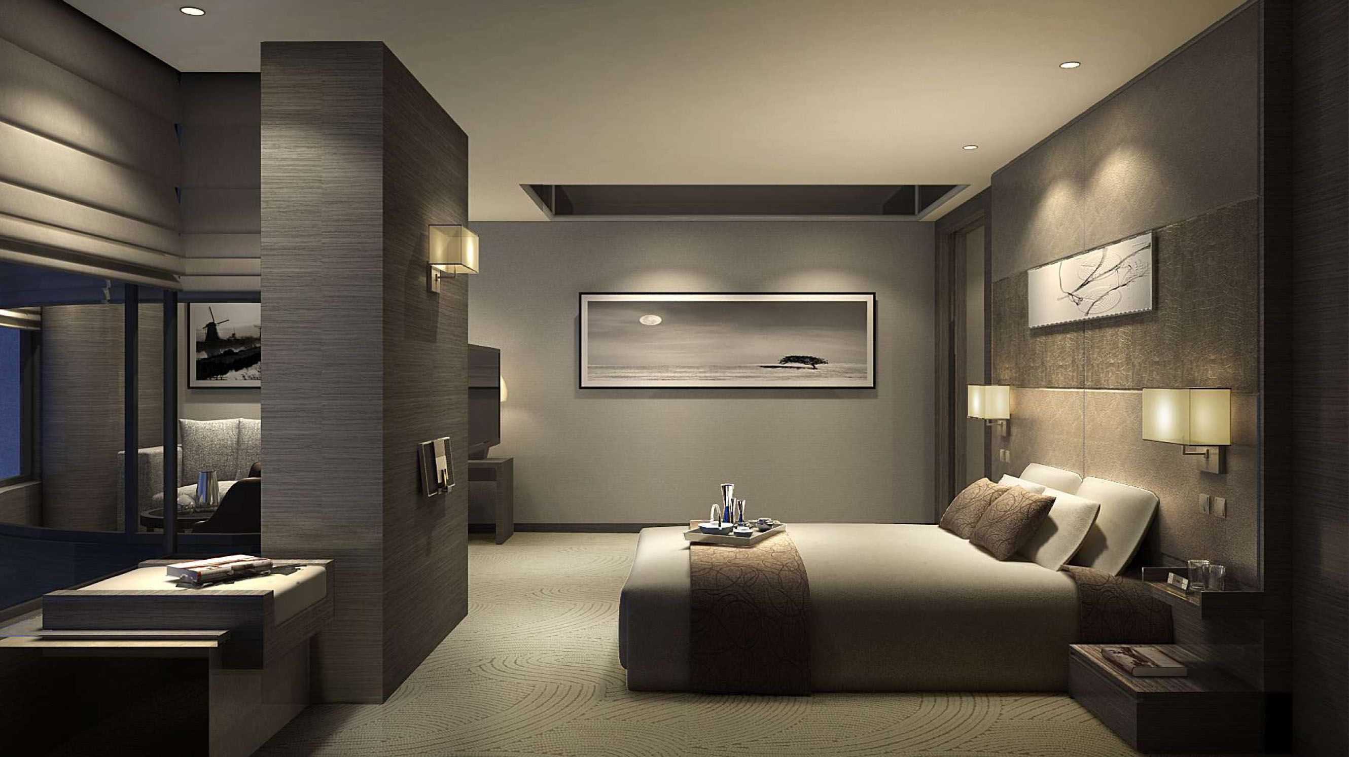 Pin by edwin chan on interior design in 2019 bedroom for Hotel room decor