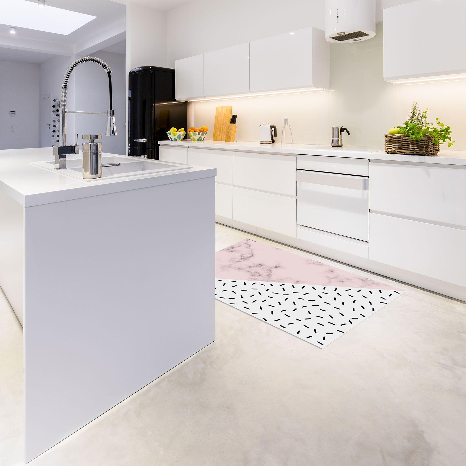 Download Wallpaper White Kitchen Area Rug