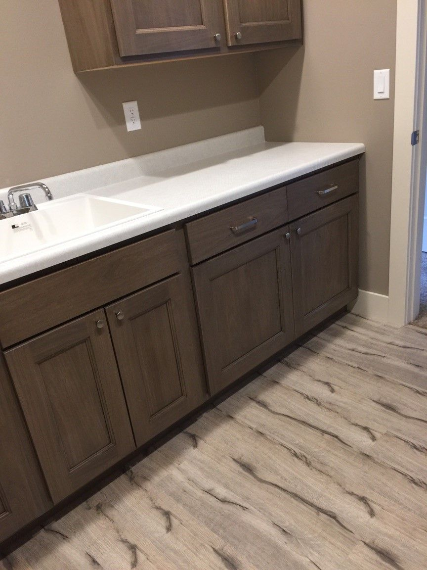 Laundry Room In Coretec Vinyl Wood Flooring Style Augustine Oak