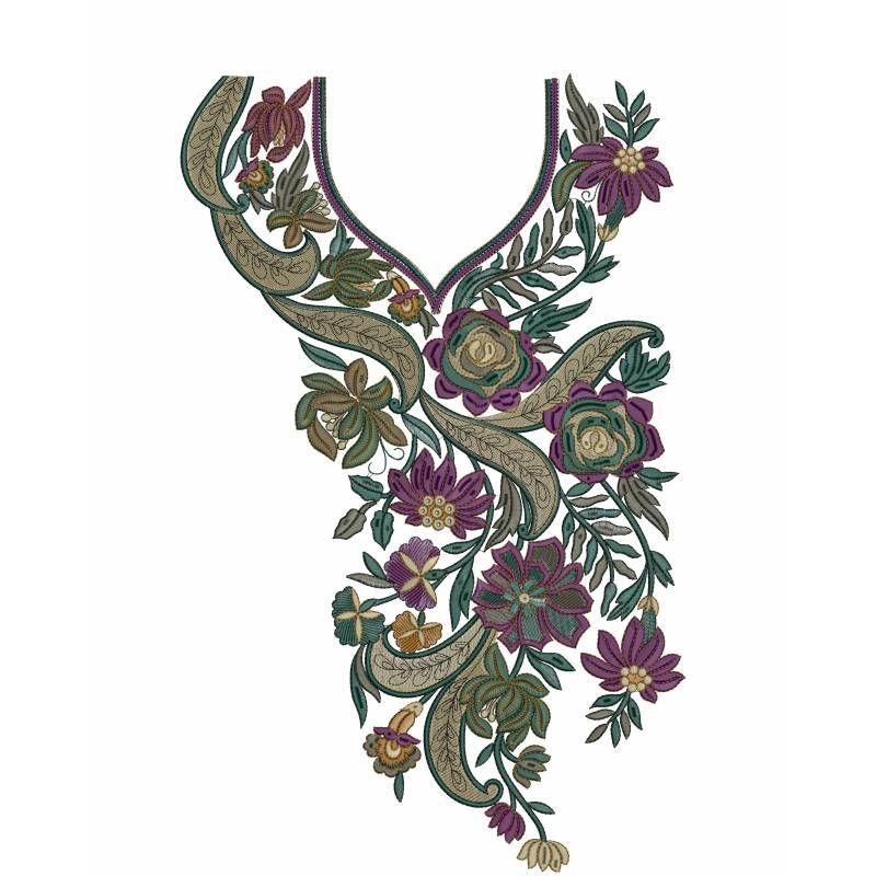 Beautiful neckline designs embroidery