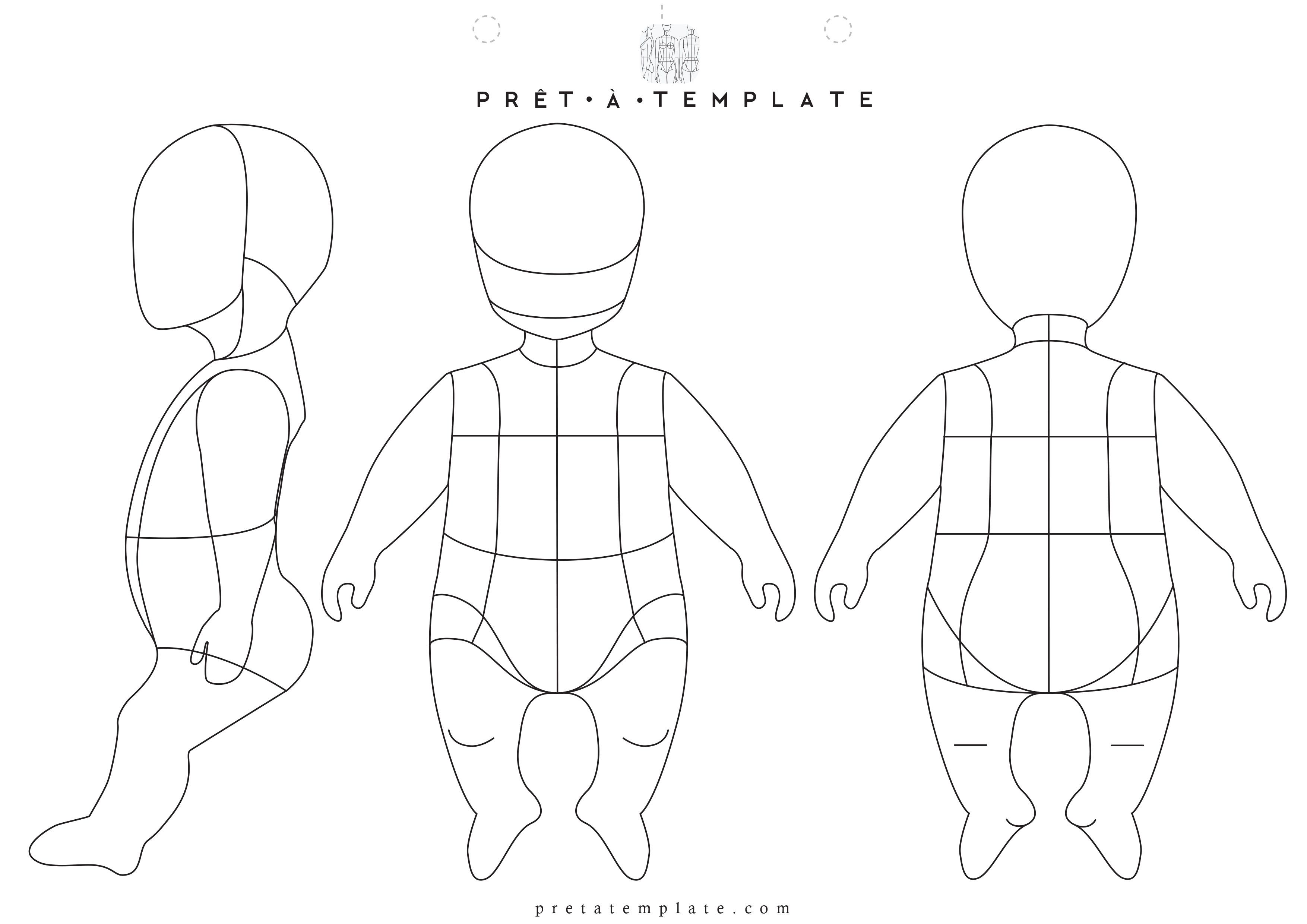 Baby body figure fashion template (D-I-Y your own Fashion