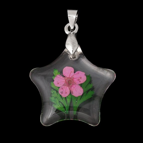 2 acrylic pendants natural real flowers pink with by smartparts 2 acrylic pendants natural real flowers pink with by smartparts mozeypictures Image collections