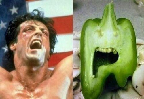 Faces in things - Rambo pepper