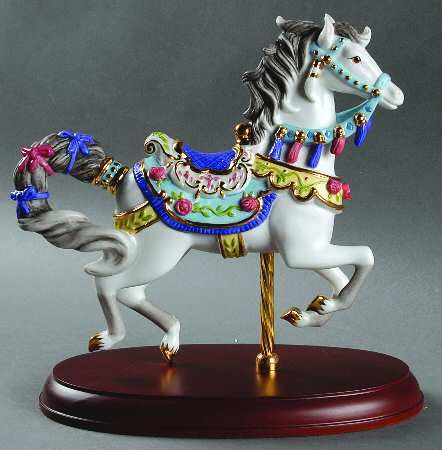2006 Lenox Rose Jumper Carousel Horse