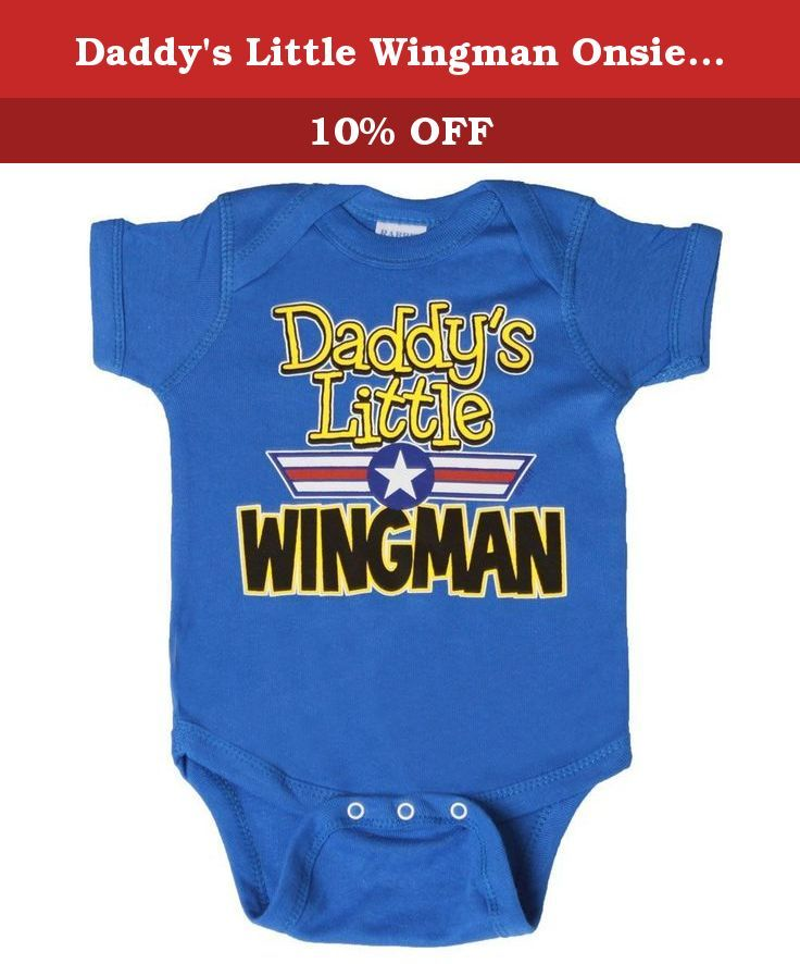 Daddy's Little Wingman Onsie, Royal 12 months. Single Dads who are in the Airforce or who just like to pick up chicks with a baby.. This onsie is perfect for you and your baby!.