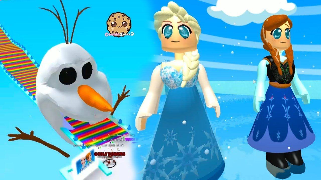 Let S Play Queen Elsa Frozen 2 Disney Movie Inspired Roblox Obby Worlds Youtube Roblox Cookie Swirl C Frozen Inspired