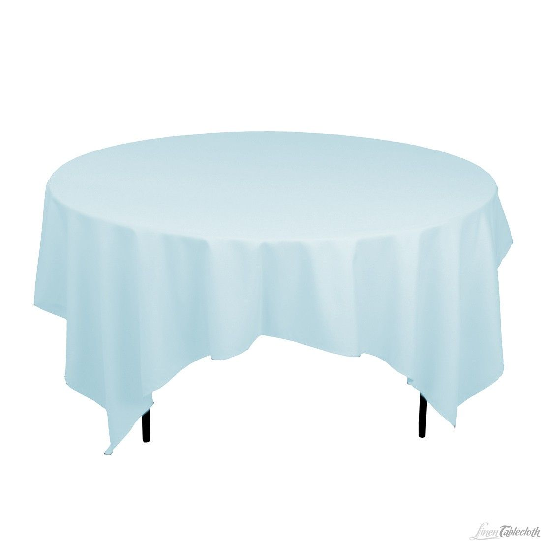 85 In Square Poly Tablecloth On 60 In Round Table Table Cloth