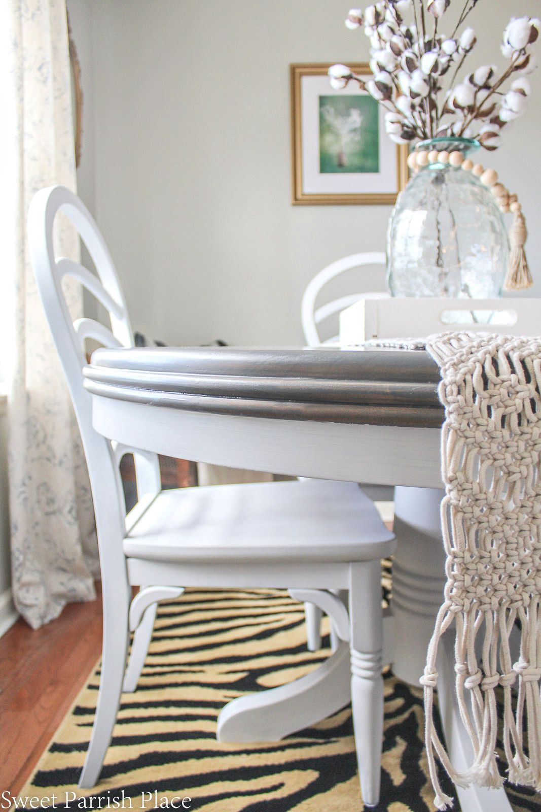 Weathered Grey Dining Table Makeover Grey Dining Tables Table