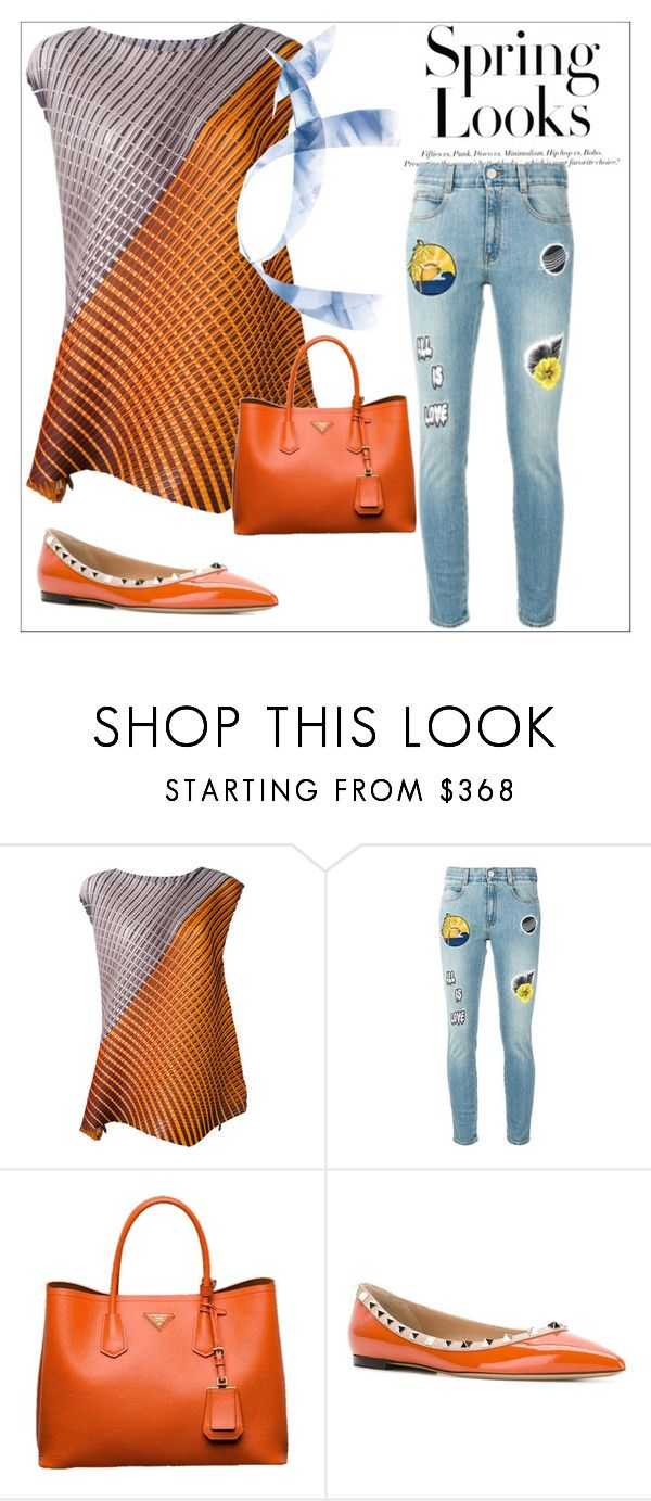 """""""Outfit # 4434"""" by miriam83 ❤ liked on Polyvore featuring Pleats Please by Issey Miyake, STELLA McCARTNEY, Prada, Valentino and H&M"""