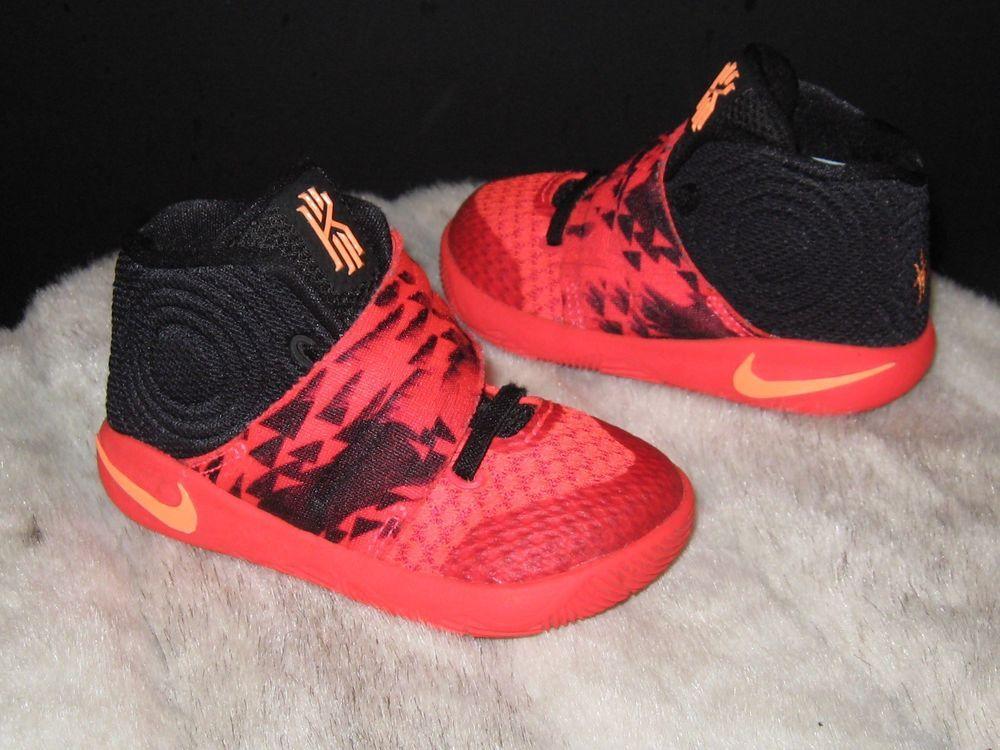 eb2acab940c7 Boys Toddler Nike Kyrie 2 Bright Sz 6C Crimson Atomic Orange Black  827281-680  Nike  Athletic  toddlerfashion  shoes