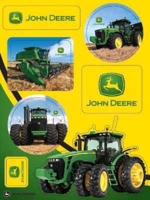 4 Sheets John Deere Officially Licensed Sticker Sheets Party Accessory