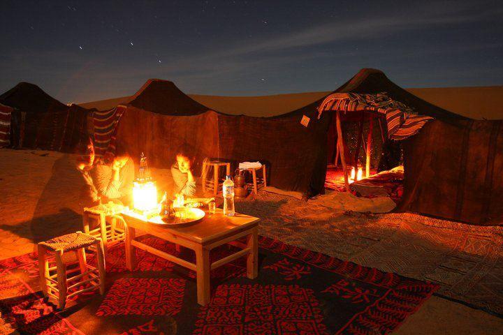Berber tent camp in the Sahara Desert.