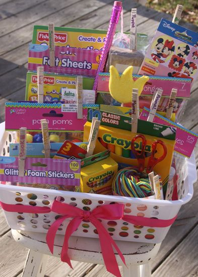 Christmas Gift Baskets For Kids.Great Gift Idea For Kids Of Any Age Craft Basket Complete