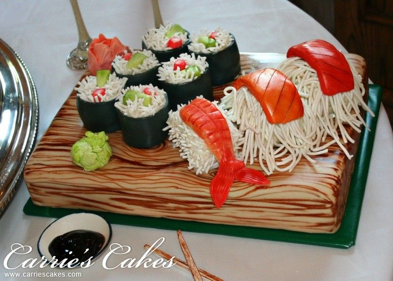 sushi cake cute deliciousness pinterest sushi cake cake and amazing cakes. Black Bedroom Furniture Sets. Home Design Ideas