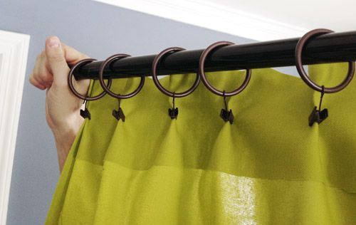 To Make No Sew, No Fuss Pleats In DIY Curtain Panels. You