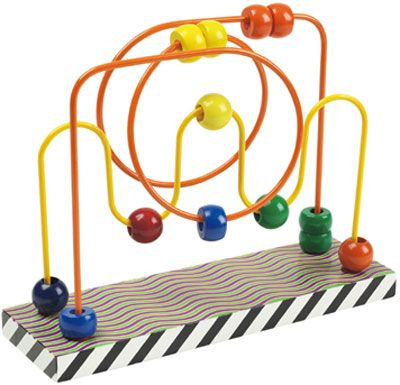 Ball Waves Patterned Bead Maze Toy Rollercoaster Is A Great Educational Baby And Toddler Wooden For Motor Skills Development