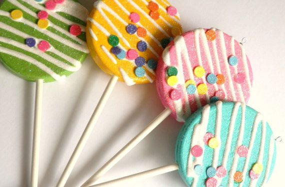 how to make fake lollipop decorations