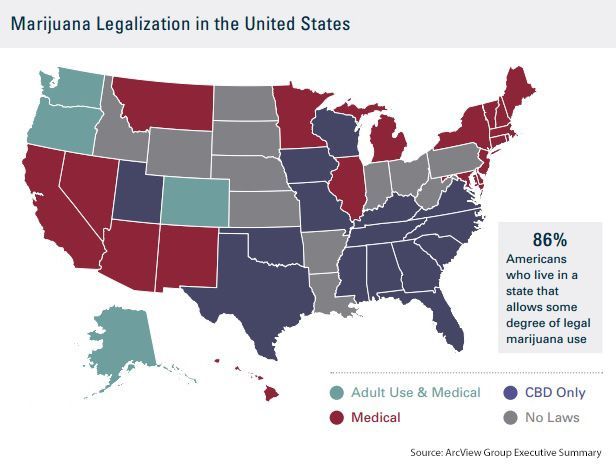 The US marijuana map map marijuana weed pot drugs