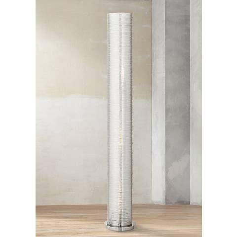 Gossamer clear spun acrylic 52 high cylinder floor lamp floor gossamer clear spun acrylic 52 high cylinder floor lamp mozeypictures Gallery