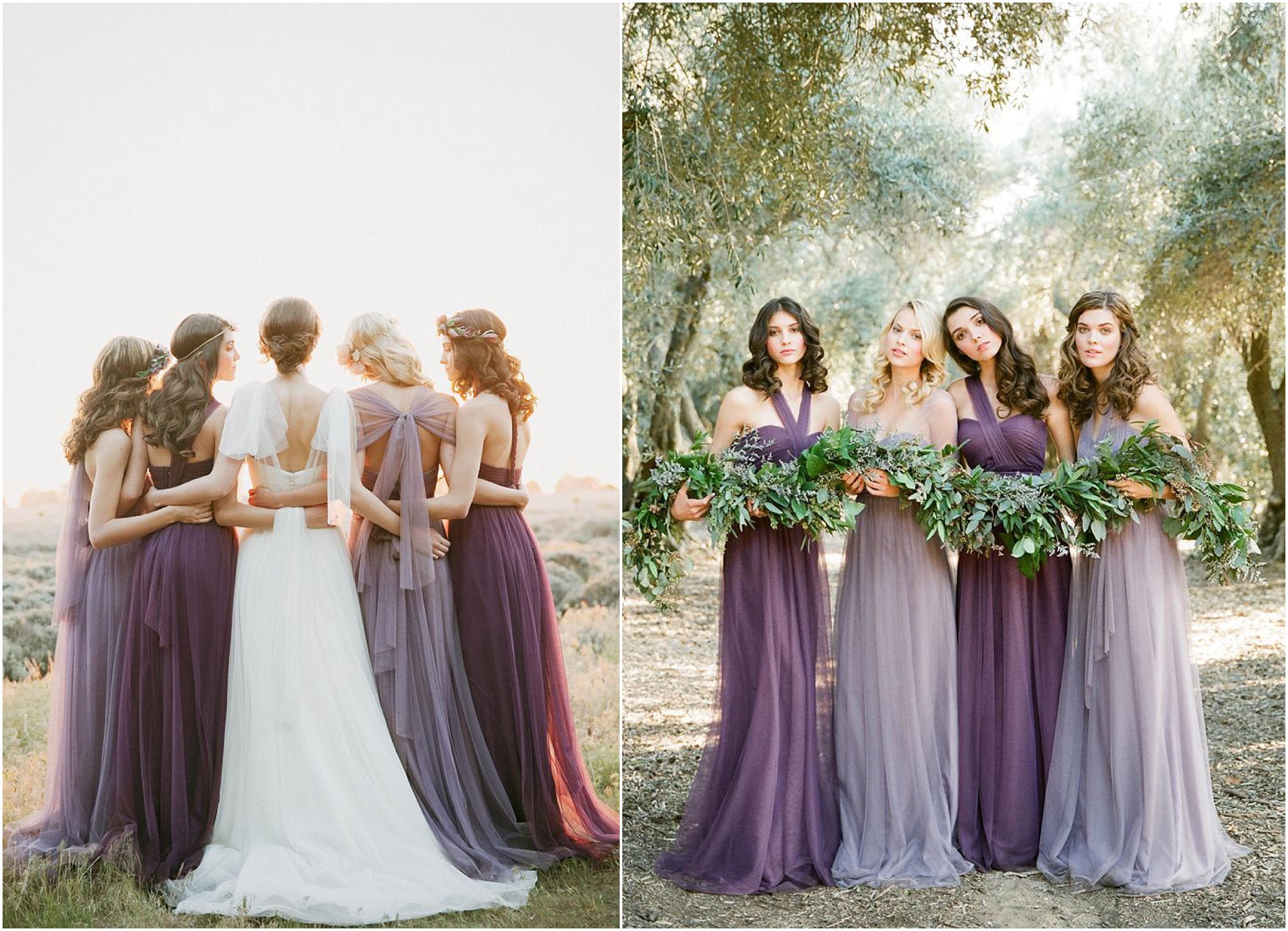 The colour purple national vintage wedding fair wedding colors bridesmaid ombrellifo Choice Image