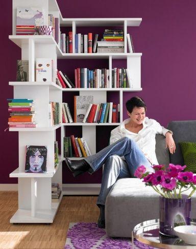 Wandfarben Braun, Beige, Grau und Violett Platz zum Wohlfühlen in - wohnzimmer grau lila weiss