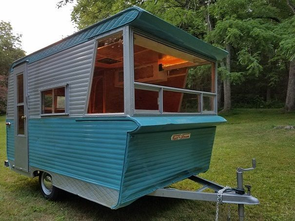 Vintage 1961 Field And Stream 12ft Camper Camper Trailer For Sale Vintage Campers Trailers Vintage Camper