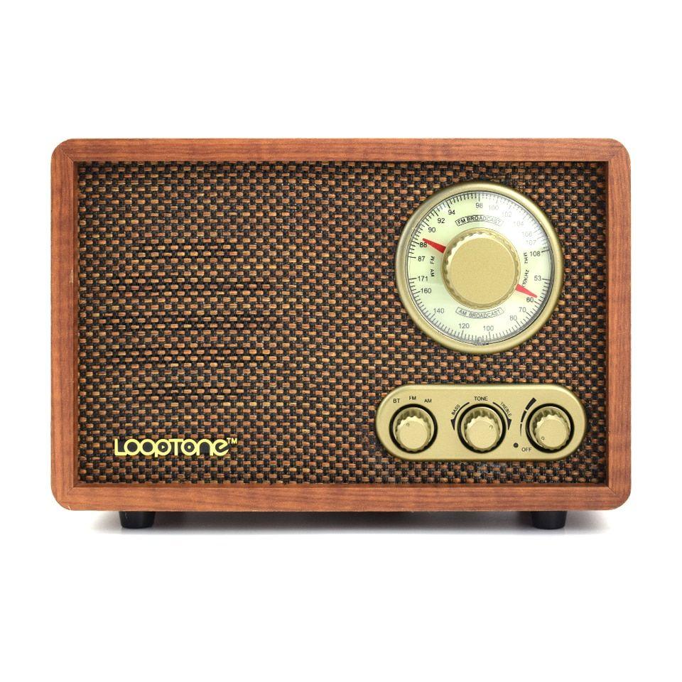 Tabletop Am Fm Hi Fi Bluetooth Speaker Radio Vintage Radio Hand Crafted Wood Egadgetsmart Vintage Radio Handcrafted Wood Retro Radios