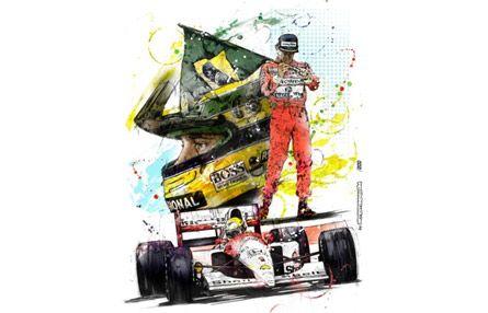 Ayrton Senna Sketch Ayrton Caricatura