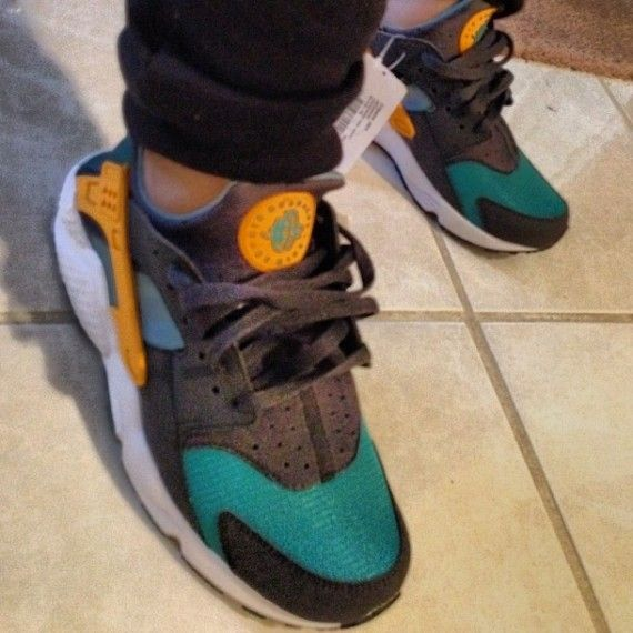 lowest price dcdae 49470 Nike Air Huarache 2014 - Teal  Orange  Black  White