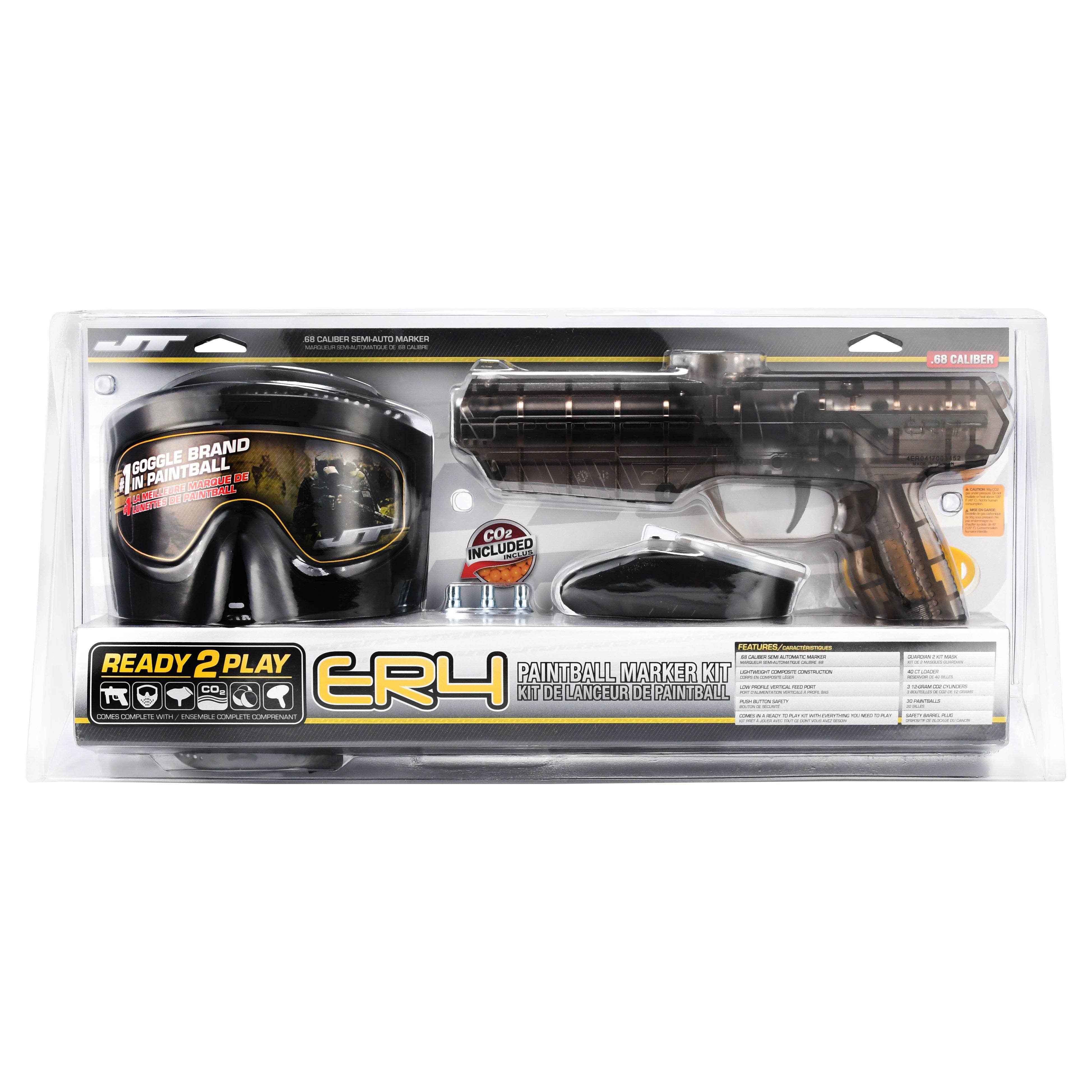 JT ER4 RTP .68 cal Paintball Kit w/ Goggle, Co2, Hopper