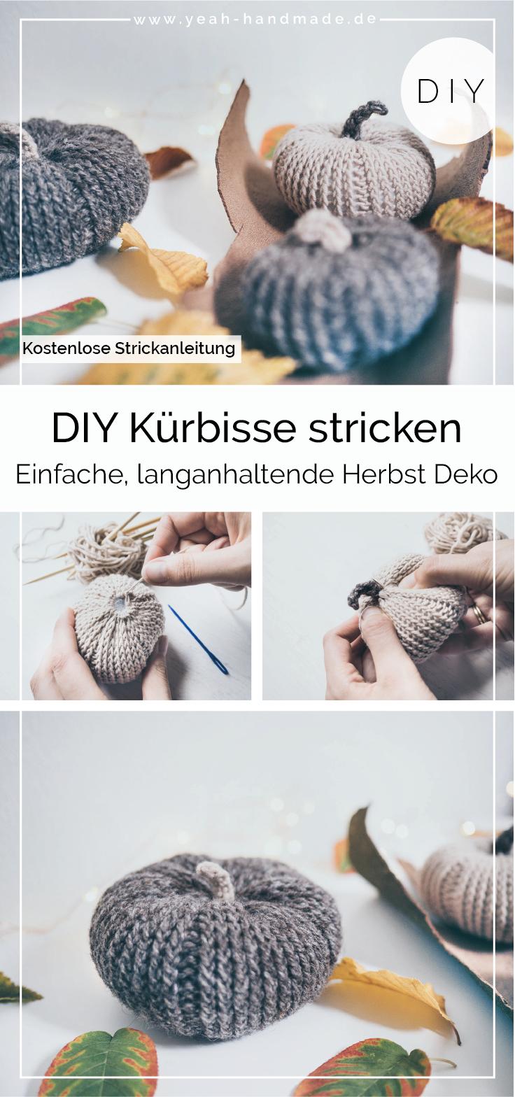 DIY Kürbis Deko stricken – Yeah Handmade