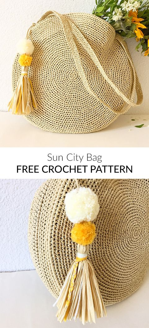 Sun City Bag Free Crochet Pattern