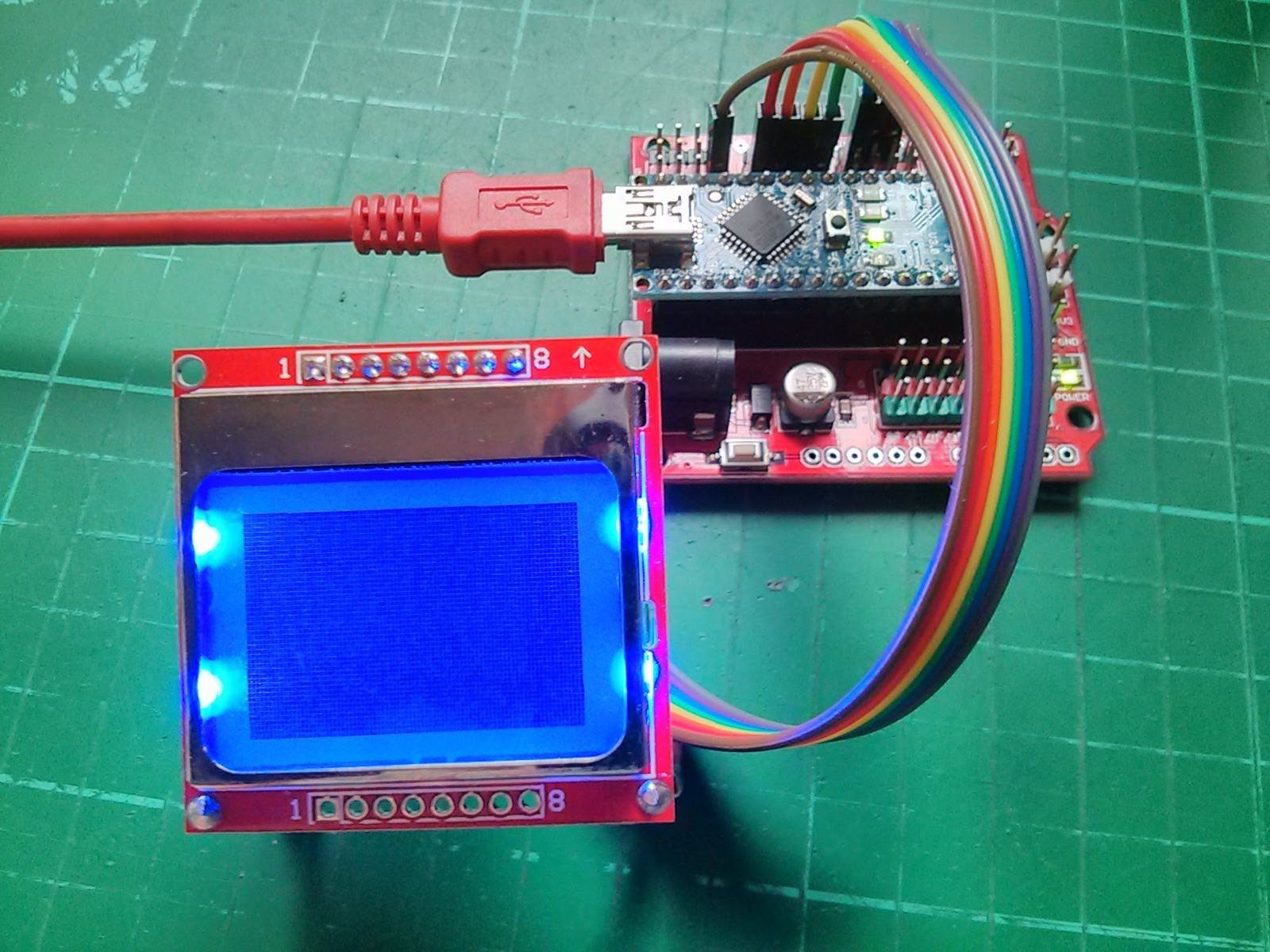 Arduino Nokia 5110 LCD Tutorial #1 - Connecting and Initial ...