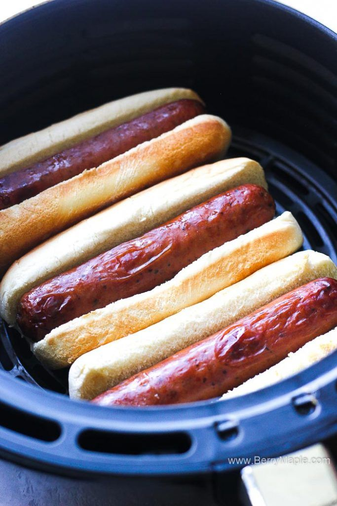 This is the best way to cook air fryer hot dogs! This
