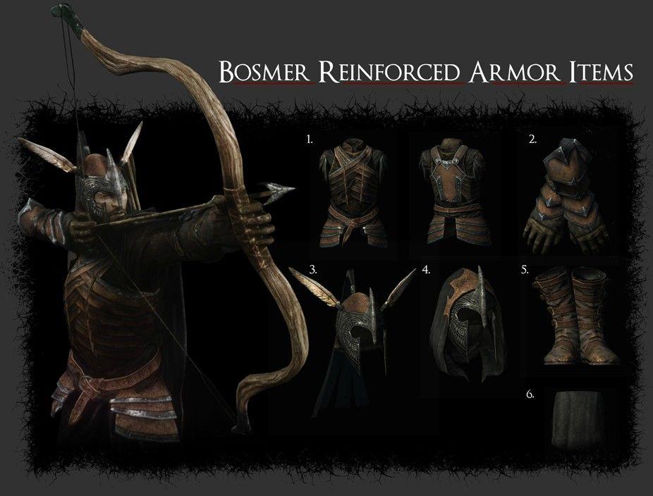 Bosmer Armor Pack at Skyrim Nexus - mods and community | LARP