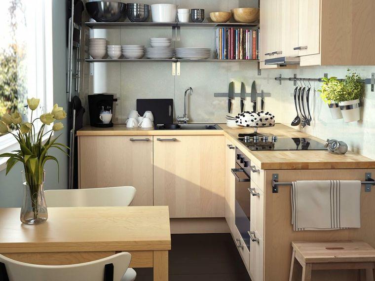 cucine-ikea-arredamento-stile-moderno-mobili-legno-mensole-vista ...