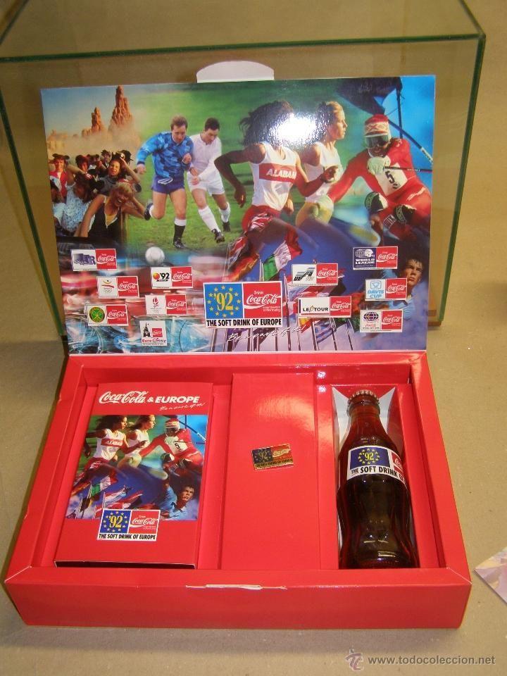 Caja Coca Cola conmemorativa eventos realizados en 1992.