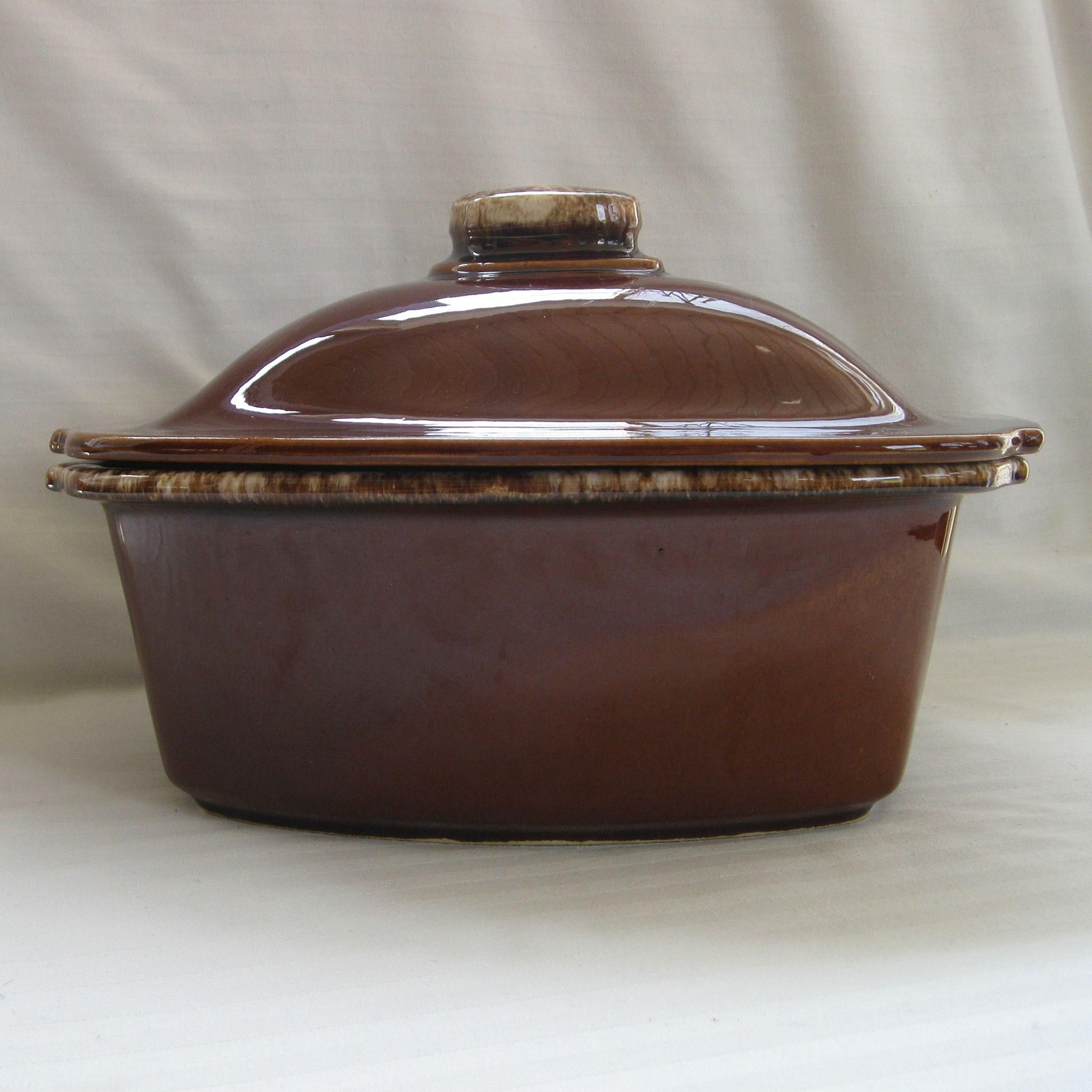 with 2 handles vegetables Vintage covered casserole dish rectangle