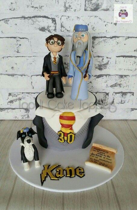 Harry Potter Cake Harry Potter Amp Dumbledore Cake Topper