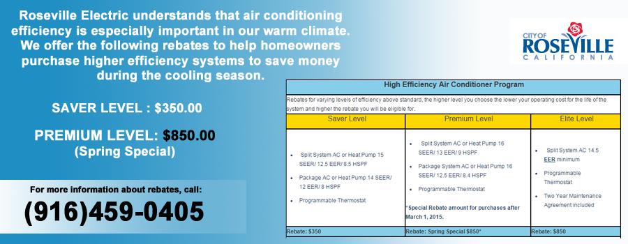 Rebateinformationslider High efficiency air