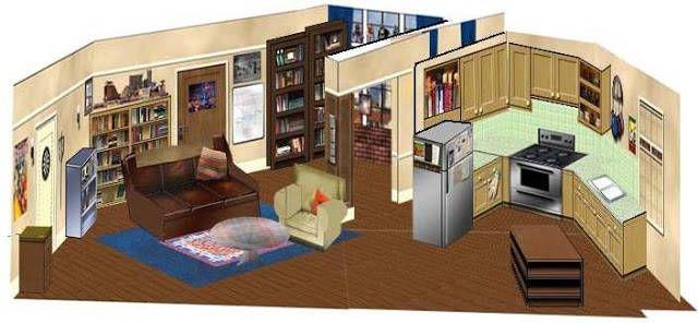The Big Bang Theory - Sheldon And Leonard's Apartment Diorama Free House Plan Big Bang Html on lady gaga house, black hole house, psy house, lee hyori house, big party house, iggy azalea house, mariah carey house, lollipop house, big long house,