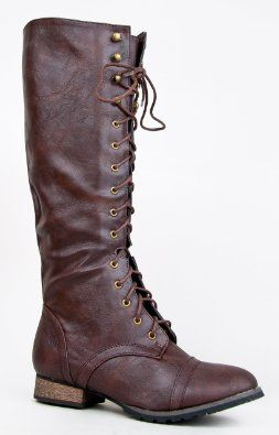 Amazon.com: Breckelle's OUTLAW-13 Knee High Stacked Heel Military Combat Boot: Shoes