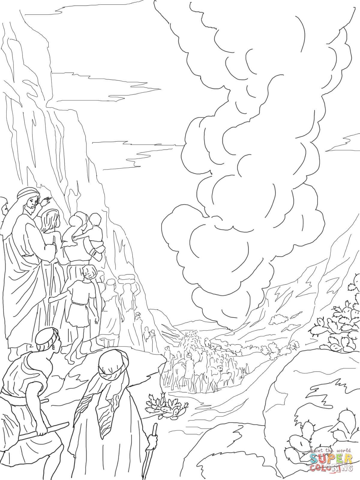Pillar Of Fire And Cloud Super Coloring Coloring Pages Bible