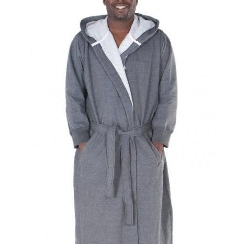 Extra Large Tall Men's Sweatshirt Bathrobe XL Soft Cotton Bath ...