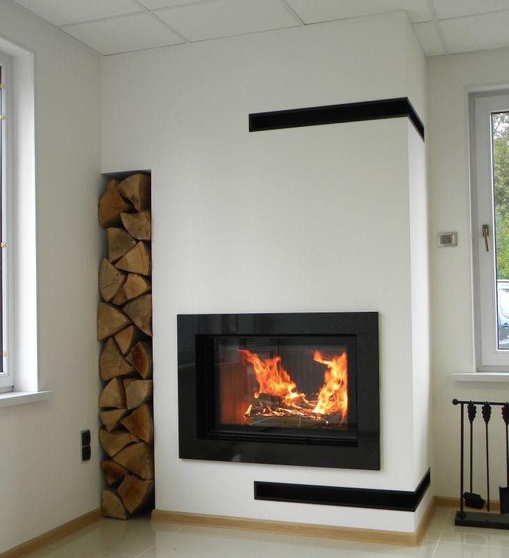 Kominek Nowoczesny Nowoczesna Obudowa Kominkowa N82 Modern Fireplace Fireplace Design Contemporary Fireplace
