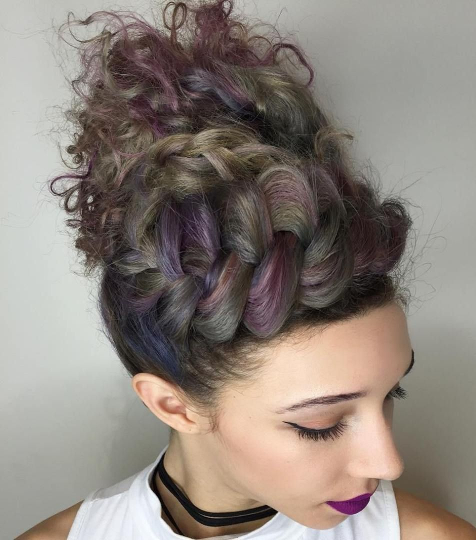55 Styles And Cuts For Naturally Curly Hair In 2018 Curly Updo