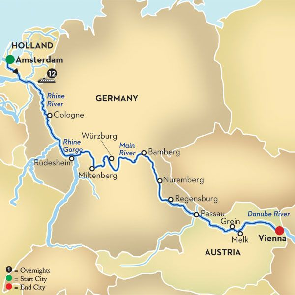 Cruise down the Rhine, starting in Amsterdam and ending in one of my favorite cities: Vienna.  This WILL happen!