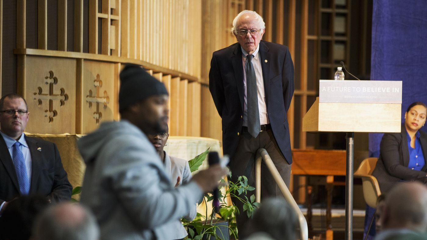 The hashtag trended for hours Sunday. It was led by people of color who support the Vermont senator's presidential bid.