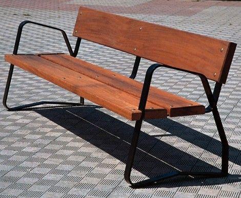 Bancas de madera para jardin puertas pinterest bench for Bancas de jardin de madera